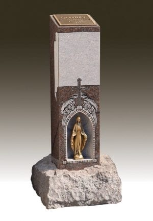 Statue within a Cremation Pillar