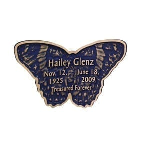 Indigo Blue Butterfly Keepsake