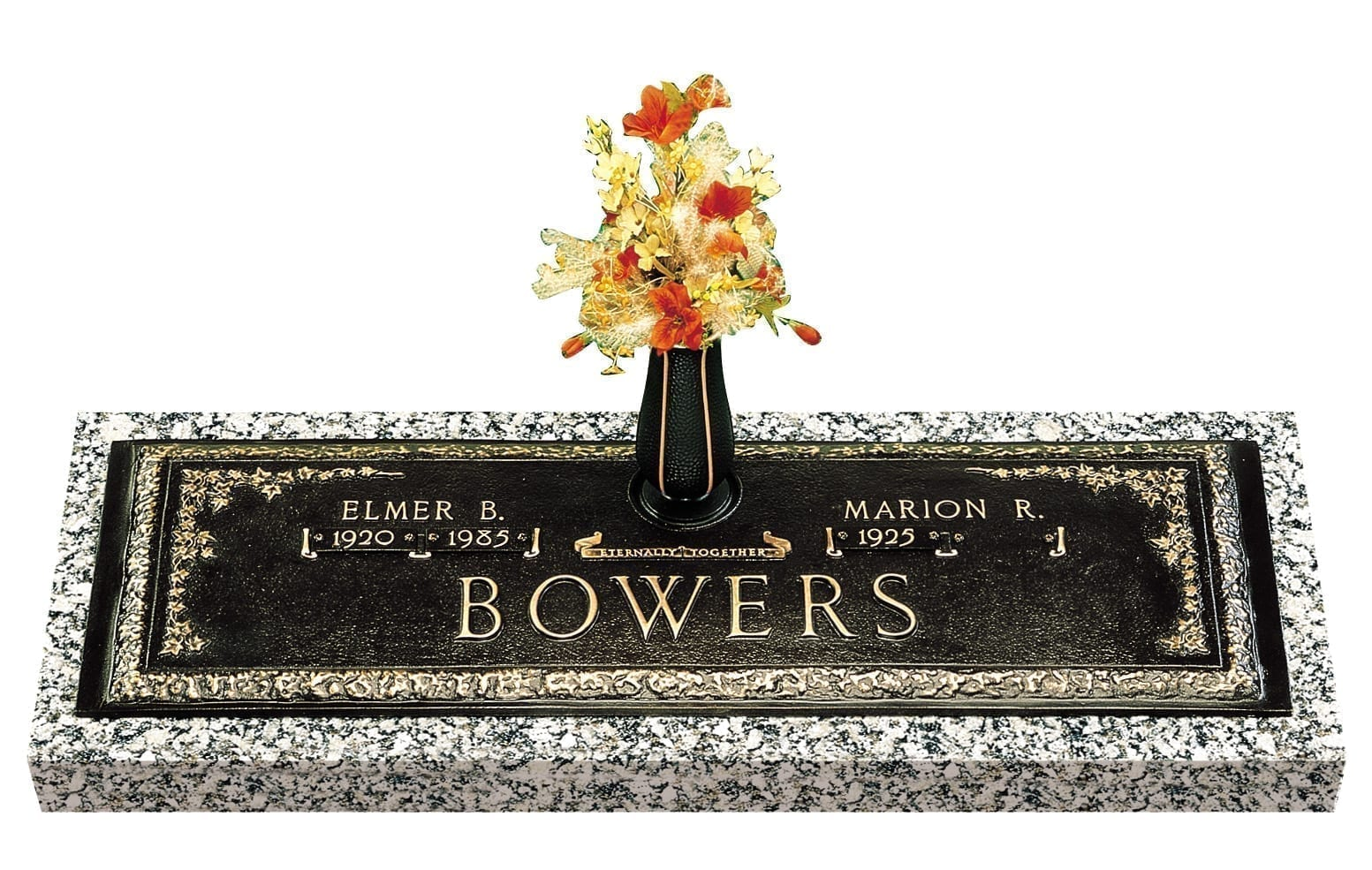 Bowers Floral Bronze Monument
