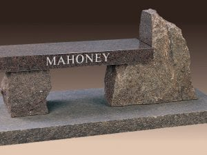 Mahoney Custom Memorial Bench