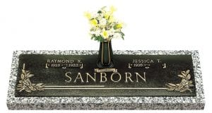 Sanborn Companion Bronze Headstone