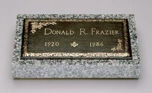 Frazier Masonic Bronze Memorial
