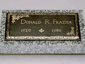 Frazier Masonic Bronze Memorial