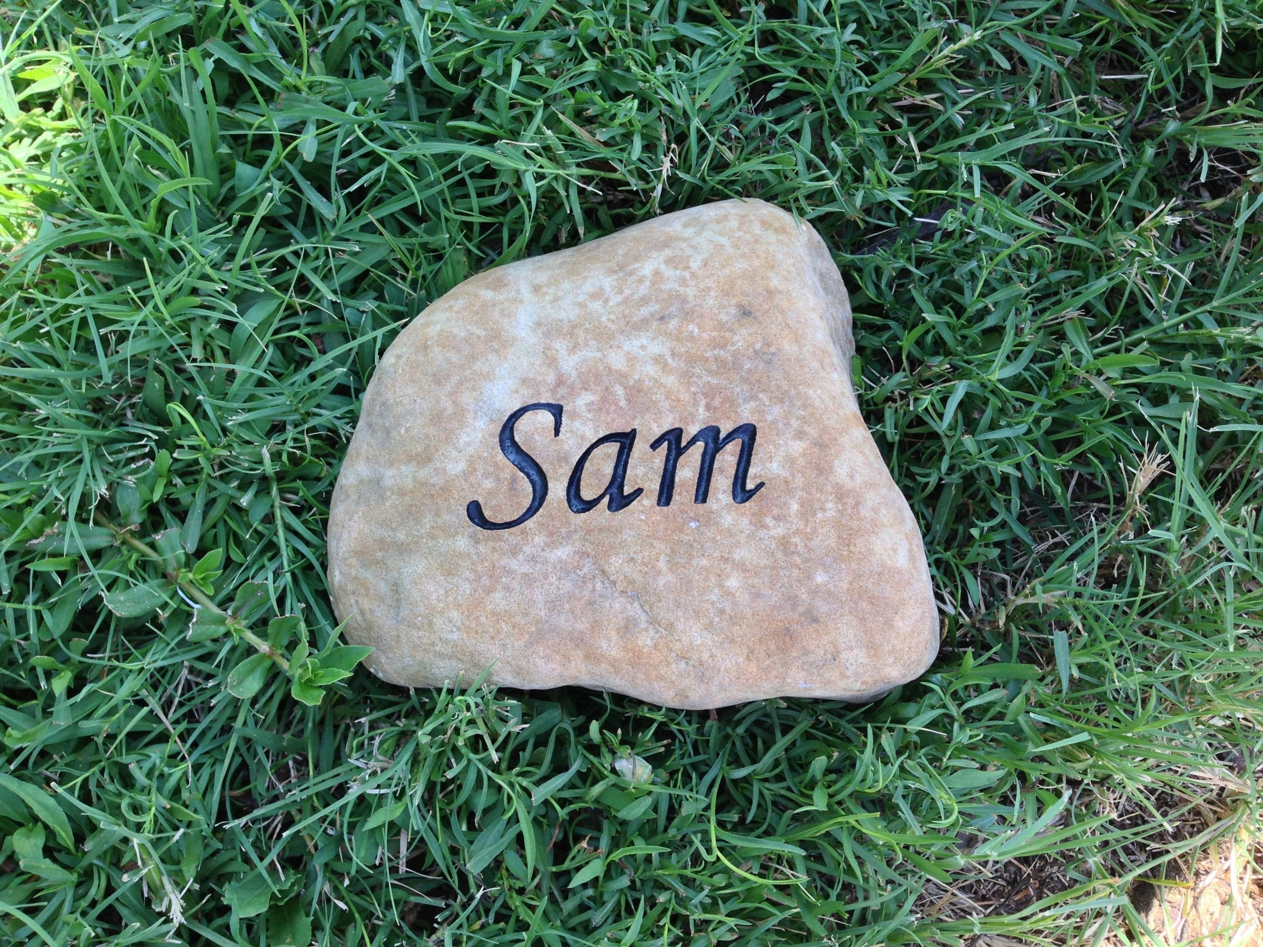 Sam Pet Memorial Garden Stone