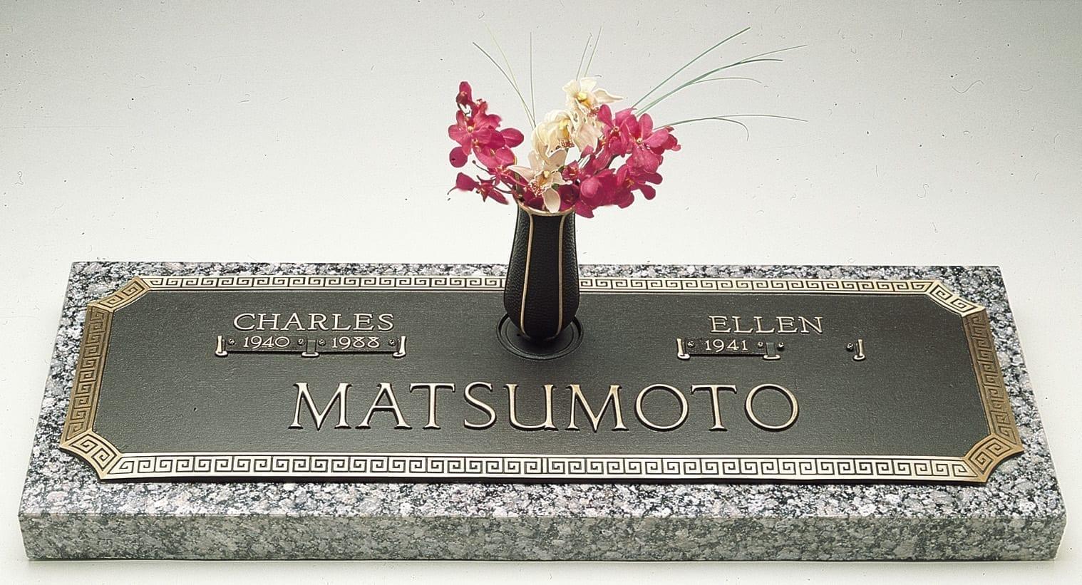 Bronze Grave Marker