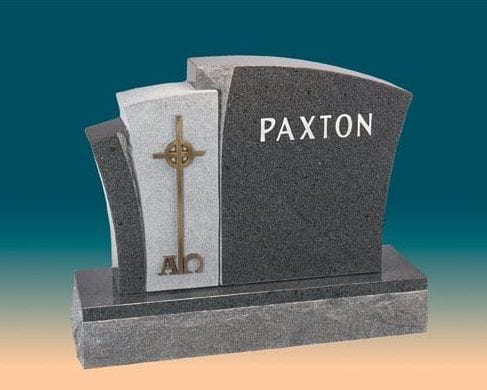 Paxton Cross Upright Headstone