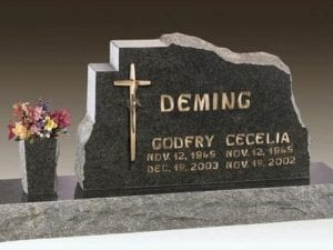 Deming Custom Upright Headstone