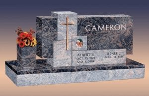 Cameron Custom Upright Gravestone