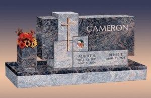 Cameron Custom Upright Gravestone