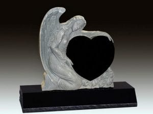 Angel Embrace Upright Gravestone