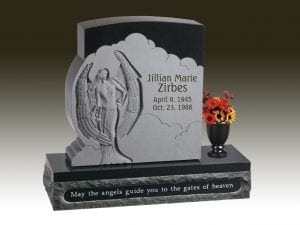 Zirbes Carved Upright Headstone