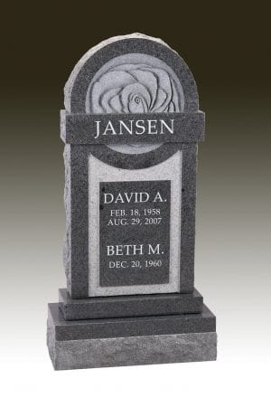 Jansen Carved Rose Gravestone
