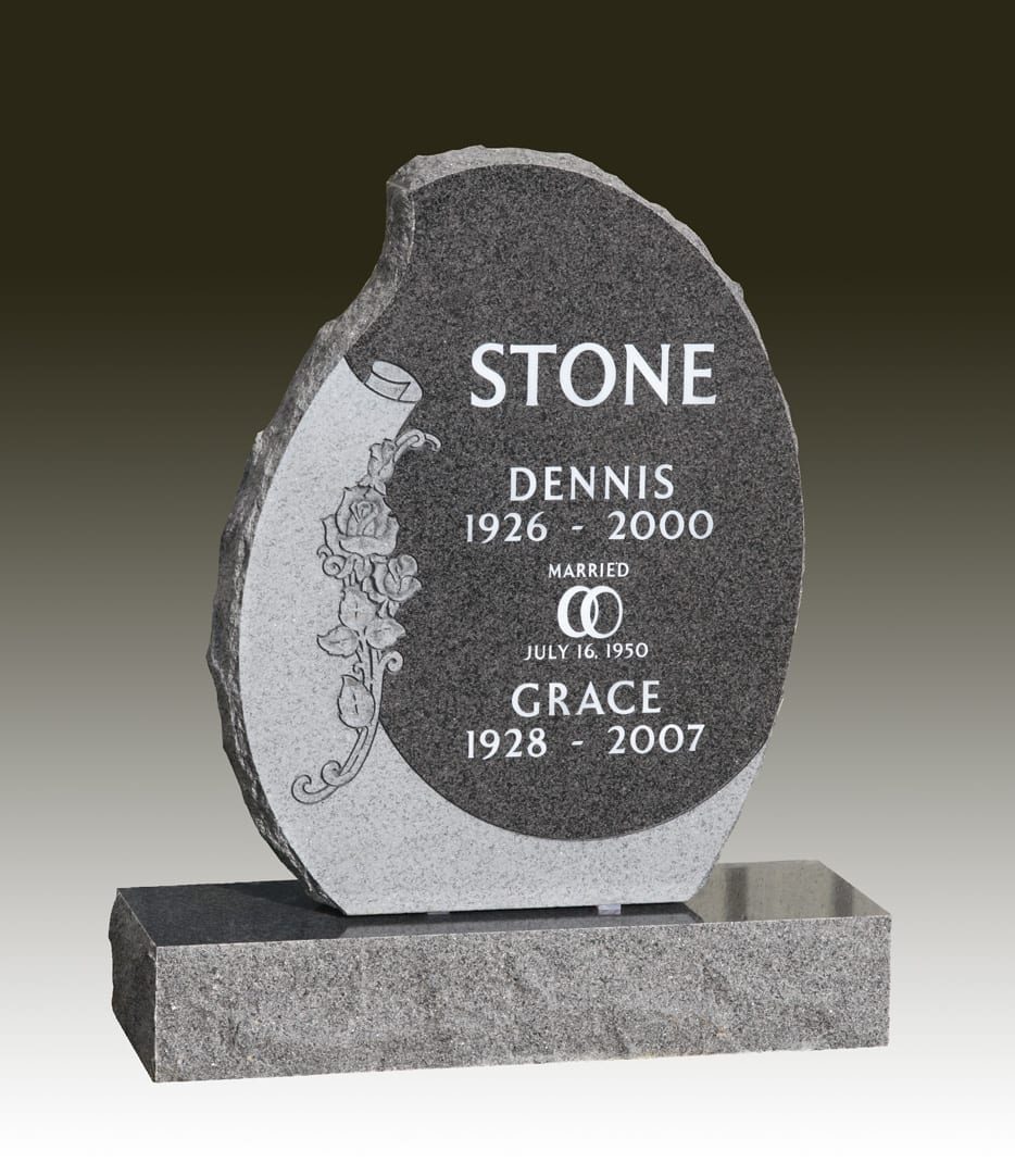 Stone Companion Upright Memorial
