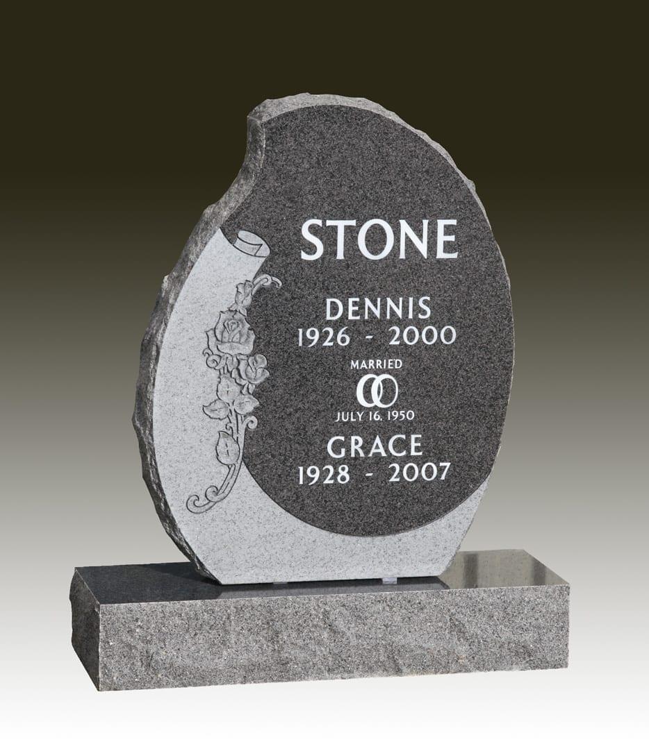 Stone Companion Upright Memorial