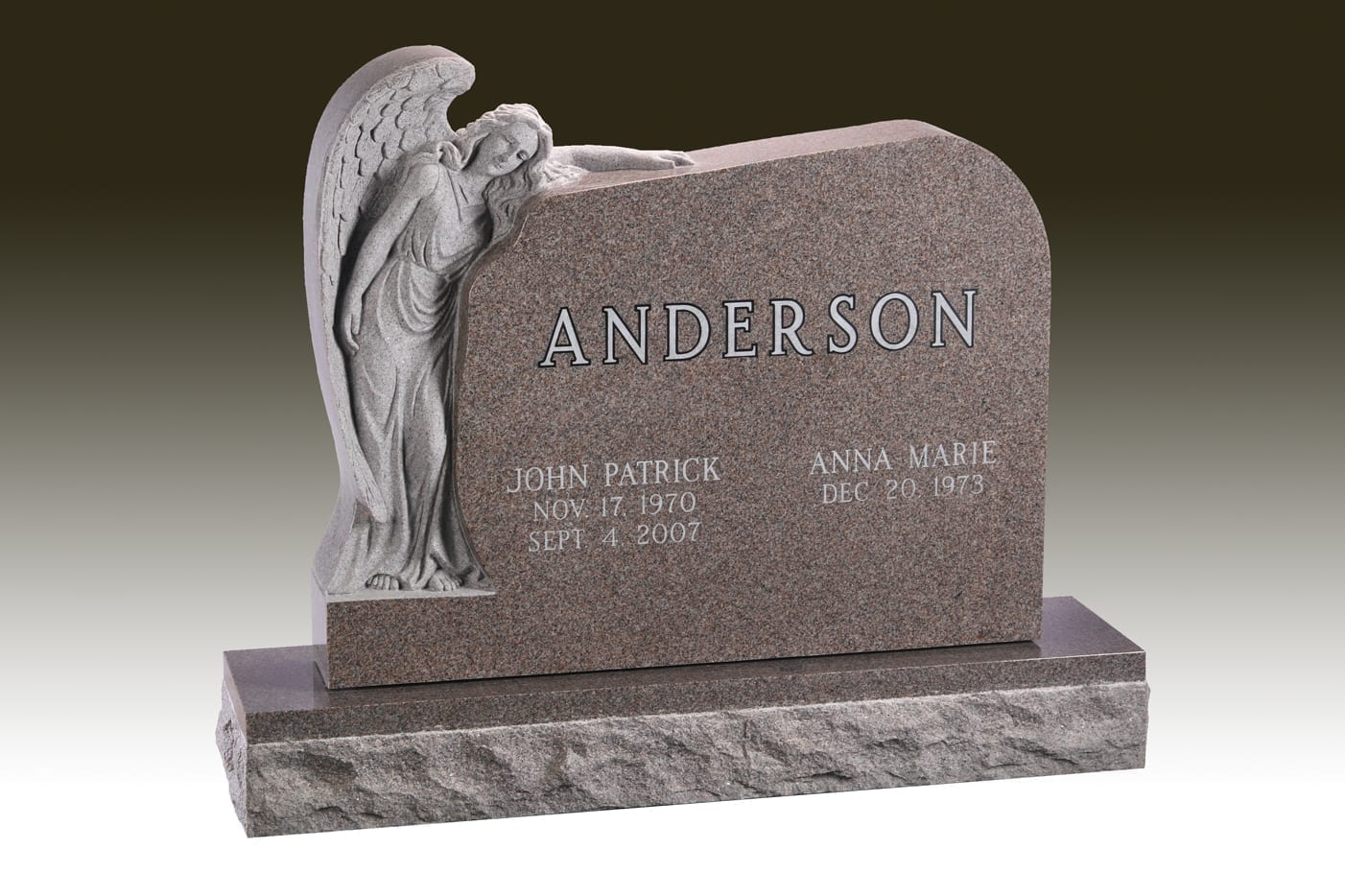 Anderson Angel Embrace Headstone