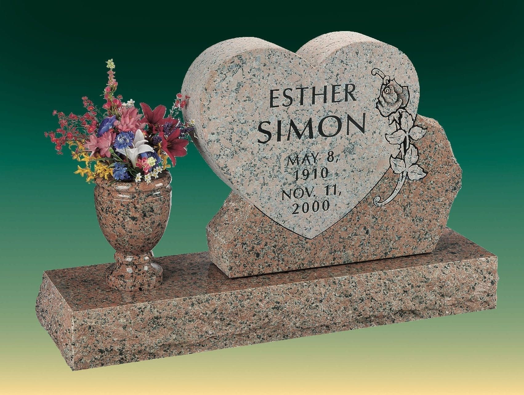 Simon Heart Upright Memorial