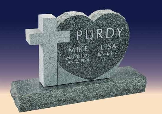 Purdy Heart Upright Memorial