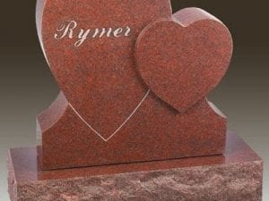 Rymer Custom Hearts Gravestone