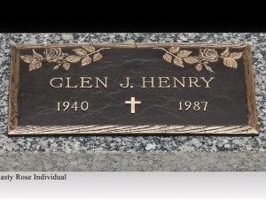 Henry Rose Bronze Gravestone