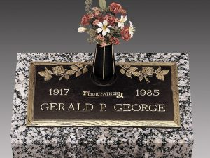 George Rose Bronze Headstone