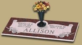 Allison Scroll Flat Monument