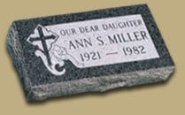 Miller Faithful Pillow Headstone
