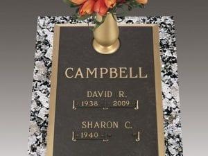 Campbell Family Bronze Gravestone
