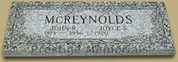 Granite Memorials For Two People: McReynolds Natural Headstone