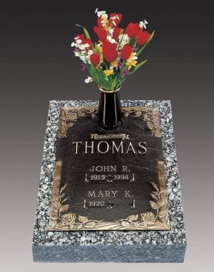 Thomas Vertical Bronze Headstone